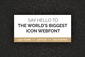 1500+ Icon Webfont in 5 Styles