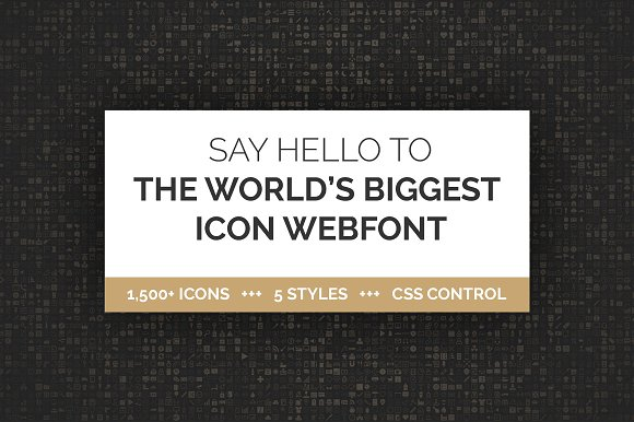 1500 Icon Webfont In 5 Styles