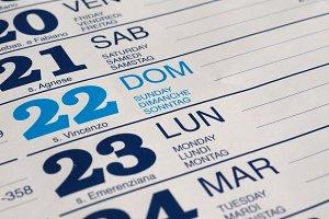 calendar page detail