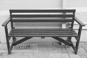 Black bench seat