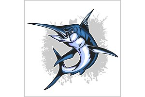 Realistic blue Marlin fish