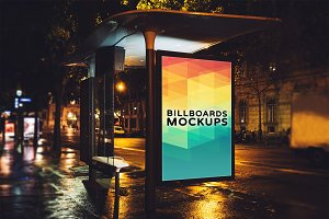 Billboard Mockup at Night #30