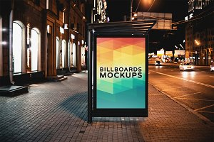 Billboard Mockup at Night #33
