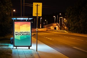 Billboard Mockup at Night #32