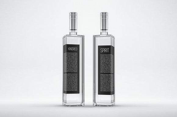 Distilled Spirits Bottle Mockup no.3 - Product Mockups