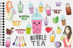 Bubble Tea , Boba Tea Drinks Clipart