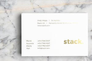 Classic Business Card Template v2