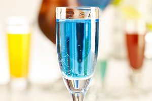 Blue shot