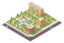 The isometric district of the city