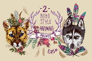 Boho animals 2