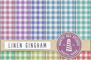 Linen Gingham Paper