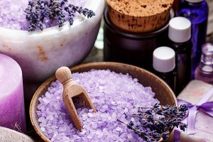 Lavender bath items