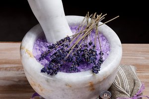 Lavender spa setting