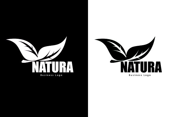 Natura Business Logo in Graphics - product preview 1