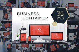 35 PSD Mockups Business Container