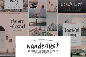 Wanderlust 10 Social Media Templates
