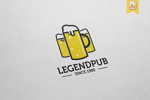 Legend Pub Logo Template