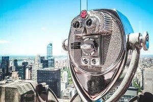 Rockefeller binoculars, NY