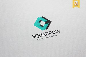 Squarrow Logo Template