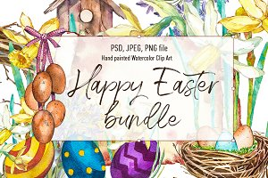 Easter set illustrations