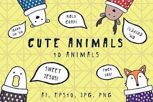 Cute animals - Set of illustrations