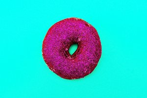 Donut in glitter Minimal Art Still