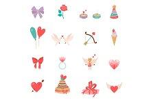 Icons Valentine s Day.