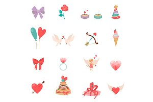 Icons Valentine s Day.