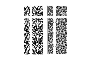 Abstract lace ribbon seamless pattern. Template line design. Lace Doily.