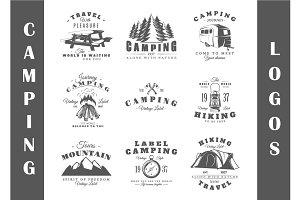 9 Camping Logos Templates