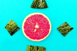 fresh mood. Still Life grapefruit