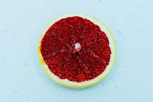 Art Citrus Grapefruit glitter
