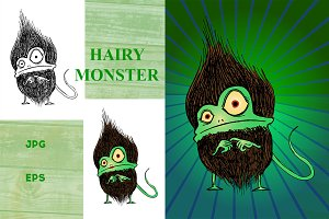 HAIRY MONSTER VECTOR