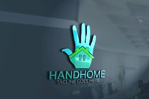 Hand Home Logo Version 2
