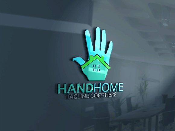 Hand Home Logo Version 2