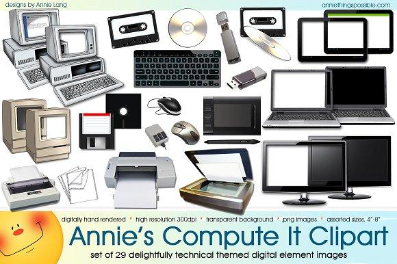 Annie's Compute It Clipart