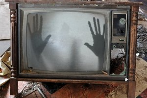 Ghost Vintage TV Set