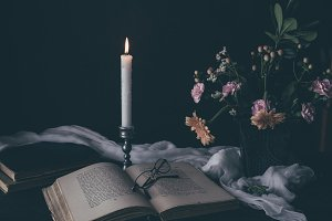 Candlight reading