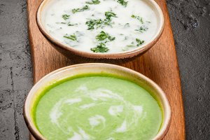 Selection of cold summer soups