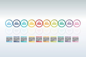 Timeline, chart, template, scheme