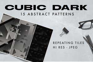 Cubic Dark Abstract Patterns