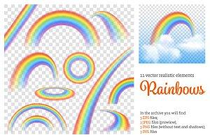 Rainbow Realistic Set
