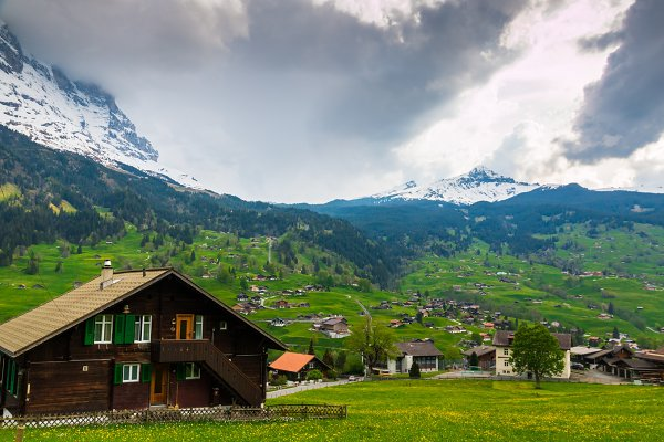 Spring in Swiss Alps