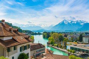 The city of Thun, Switzerland
