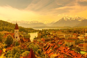The city of Thun, Switzerland