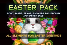 Easter set with rabbit