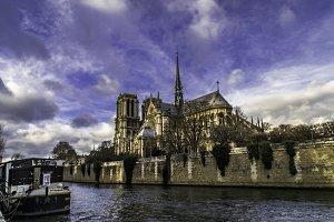 Notre Dame de Paris in colour