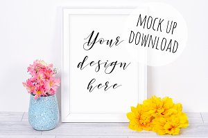 Colorful Frame Mockup, Summer Styled
