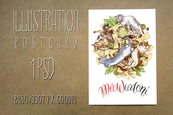 Extraordinary Card MEOWcaroni