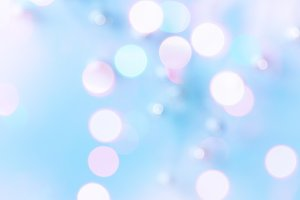Abstract blurred bokeh light in blue